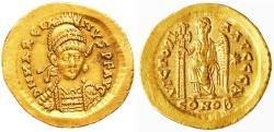 Ancient Coins - Marcian AV Gold Solidus, AEF/EF, 450 - 457 C.E.