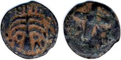 Ancient Coins - Antonius Felix AE Prutah, VF+, Procurator under Claudius, 54 C.E.