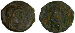 Ancient Coins - Ptolemy V AE14, Rare type, Very Fine, 205 - 180 B.C.E.