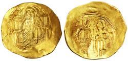 Ancient Coins - Isaac II Angelus AV Gold Hyperpyron, AEF, 1085 - 1095 C.E.