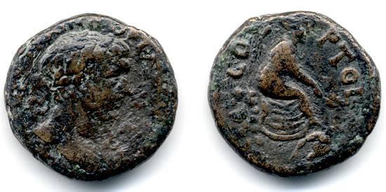 Ancient Coins - Akko, Trajan, Biblical City Coin, AE 23