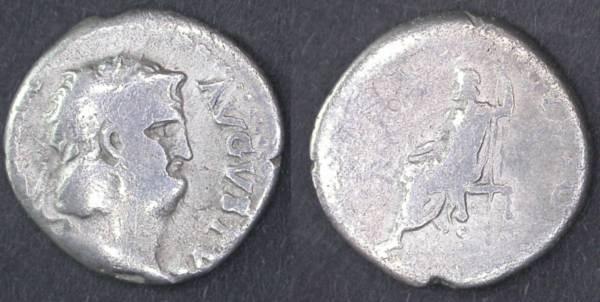 Ancient Coins - Nero AR Denarius, 54 - 68 C.E.
