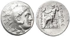 Ancient Coins - Alexander III the Great AR Tetradrachm, Near Extremely Fine, Odessos, 225 - 200 B.C.E.