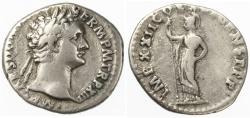 Ancient Coins - Domitian AR Denarius, VF, 93/94 C.E.