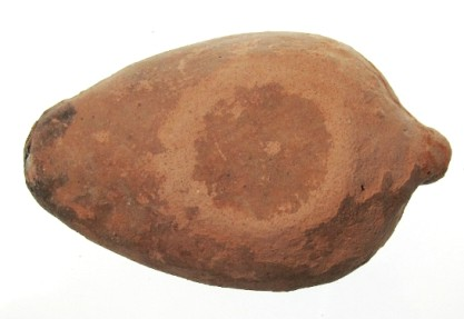 Ancient Coins - Menorah Late Samaritan Oil Lamp, Intact 6th-7th Century C.E.