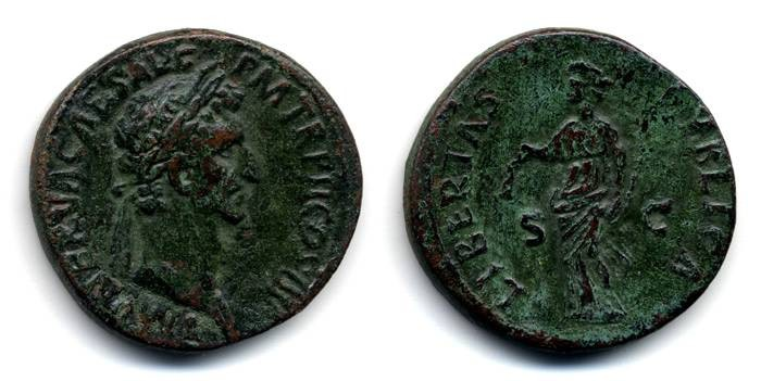 Ancient Coins - Nerva Sestertius, VERY SCARCE, VF+