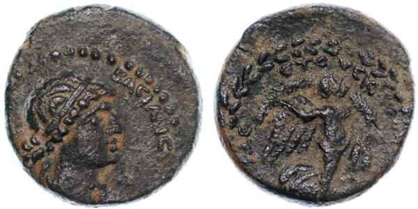 Ancient Coins - Cleopatra VII, Chalcis, CHOICE About Extremely Fine, 32/31 B.C.E.