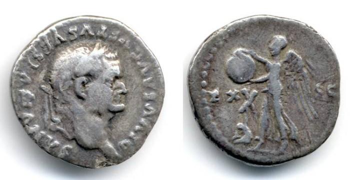 "Ancient Coins - Vespasian ""Judaea Capta"" Denarius, AVF, SCARCE type, Commemorative by Titus ""EX-SC"""