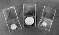 Us Coins - Saflips Inert Double Pocket Coin Flips - 2 x 2 - Box of 100 with insert cards