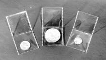 Us Coins - Saflips Inert Double Pocket Coin Flips – 2 ½  x 2 ½  - two packs of 50 (100 flips total)