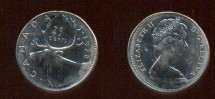 World Coins - Item #3501, EXTREMELY RARE HIGHLY COLLECTIBLE ERROR QUARTER FROM CANADIAN MINT, UNUSUAL PIECE 1978,