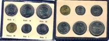 World Coins -   Item #1911 Pahlavi (Iran Dynasty) Muhammad Reza Shah (SH 1320-1357) SIX COINS in ONE OFFICAL SET (20/10/5/2/ one rial & 50 dinar) UNC, DATED (1974) Catalog Value $20, GIFT IDEA