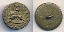 World Coins - Item #1311, Iran/Austria Sun and Lion holding a sword with Qajar crown, military button