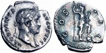 Hadrian Denarius. 125-128 AD.