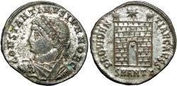 Ancient Coins - Constantine II. As Caesar, AD 316-337. Silvered follis.