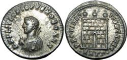 Ancient Coins - Crispus, Caesar, Silvered AE Follis.