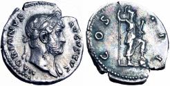Ancient Coins - Hadrian Denarius. 125-128 AD.