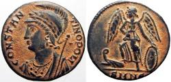 Ancient Coins - Constantinopolis Commemorative Nicomedia mint. AD 330-335.  bold coin