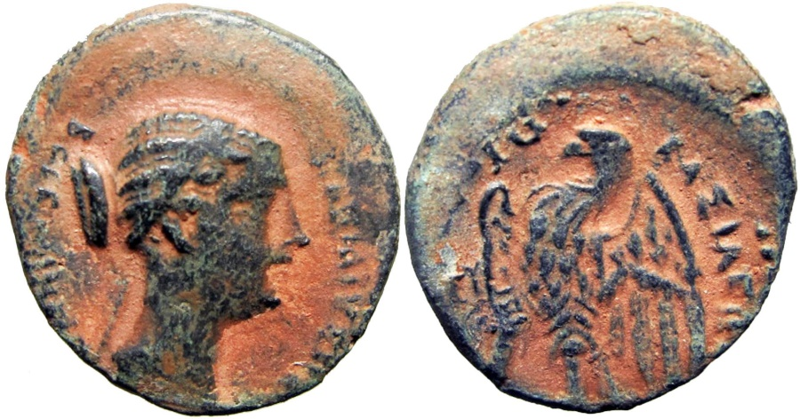 Ancient Coins -  PTOLEMAIC KINGS of EGYPT. Berenike II, wife of Ptolemy III. Circa 244/3-221 BC.