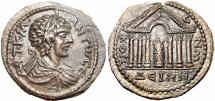 Ancient Coins - SYRIA, Decapolis. Dium. Caracalla. AD 198-217. virtually as struck on a Medalic flan !!!