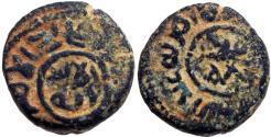 Ancient Coins - UMAYYAD: 'Abd al-Malik b. Marwan, fl. 749-750, AE fals (5.18g), al-Iskandariya.