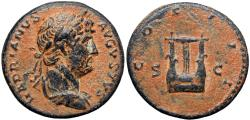 Ancient Coins - Hadrian. AD 117-138. Æ Semis .
