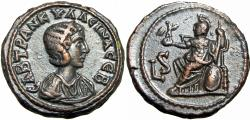 Ancient Coins - EGYPT, Alexandria. Tranquillina. Augusta, AD 241-244. bold example.