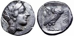 Ancient Coins - Attica, Athens AR Tetradrachm. Circa 454-404 BC.
