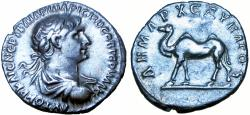 Ancient Coins - ARABIA, Bostra. Trajan. AD 98-117. bold example.