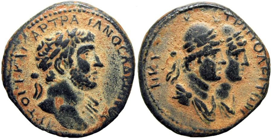 Ancient Coins -  PHOENICIA, Tripolis. Hadrian. AD 117-138. Lovely example.