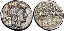 Ancient Coins - C. Junius C. f. AR Denarius. Rome, 149 BC.