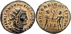 Ancient Coins - Constantius I. As Caesar, AD 293-305. Stunning example and bold.
