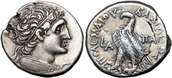Ancient Coins - PTOLEMAIC KINGS of EGYPT. Kleopatra III & Ptolemy IX Soter II (Lathyros). 116-107 BC., Bold and choice for the type !!!