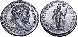 Ancient Coins - Septimius Severus AR Denarius. Rome, AD 198-200. Rare and stunning example.