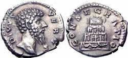 Ancient Coins - Divus Lucius Verus. Died AD 169.  very bold !!!