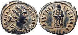 Ancient Coins - Fausta. Augusta, AD 324-326.Alexandria mint, choise portrait !!!