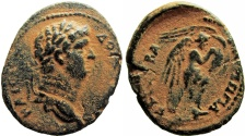 Ancient Coins - JUDAEA, Herodians. Agrippa II, with Domitian. Circa 50-100 CE.