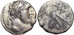 Ancient Coins - Phoenicia, Tyre AR Shekel. Dated CY 111 = 16/5 BC.