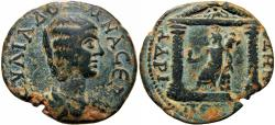 Ancient Coins - ARABIA PETRAEA, Petra. Julia Domna, wife of Septimius Severus. Augusta, 193-217 AD. Very Rare.