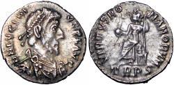 Ancient Coins - Eugenius AR Siliqua. Trier, AD 392-395.