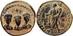 Ancient Coins - Theodosius I, with Arcadius & Honorius. AD 393-395. Æ Exagium Solidi Weight, Choice for the type.