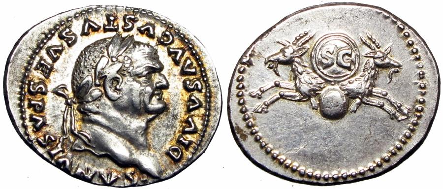 Ancient Coins - DIVUS VESPASIAN. Died 79 AD. EX NAC, superb !!!