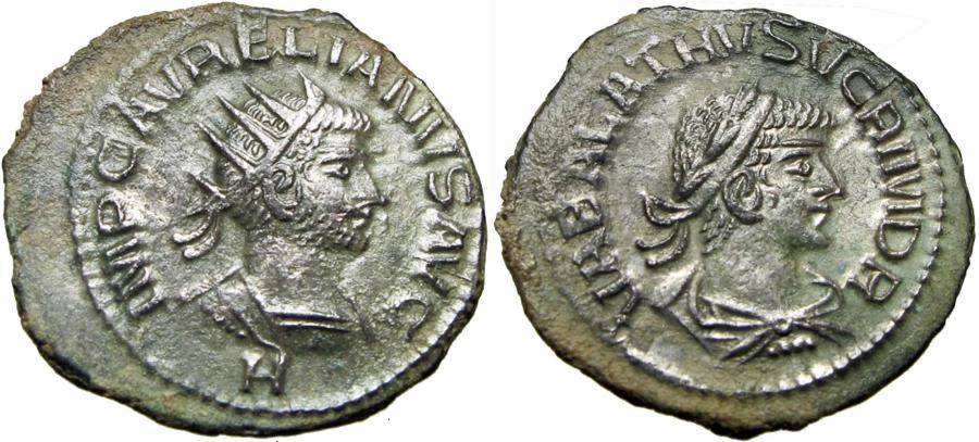 Ancient Coins - AURELIAN & VABALATHUS. 271-272 AD.