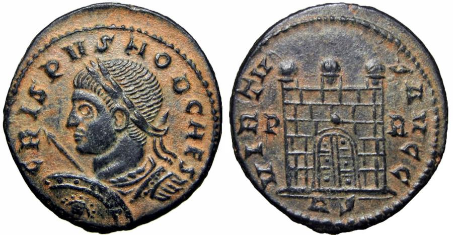 Ancient Coins - Crispus. A.D. 317-326. AE follis, Rome, Very rare