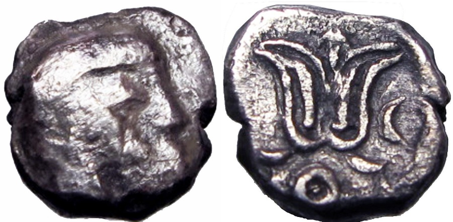 Ancient Coins - Philistia (for Jerusalem [Judah]?) (5-4 centuries BC). Unique and Unpublished new type !!!!