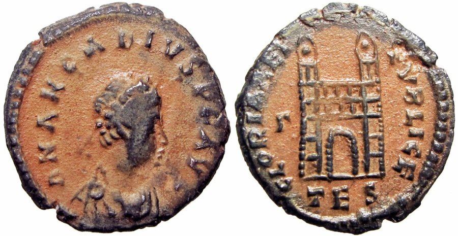 Ancient Coins - Arcadius. AD 383-408. Rare .