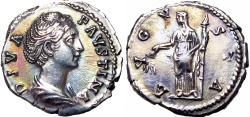 Ancient Coins - Diva Faustina Senior. Died AD 140/1. Stunning superb coin !!!