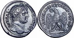 Ancient Coins - Caracalla AR Tetradrachm of Tyre, Phoenicia. AD 208-212. well centered on larg flan.