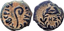 Ancient Coins - JUDAEA, Procurators. Pontius Pilate. 26-36 CE. stunning example, NZ date very rare variety !!!