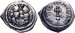 Ancient Coins - Heraclius. 610-641. AR hexagram .